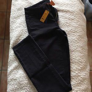Tory Burch super skinny black jeans  size 27